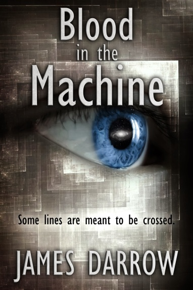 "Cover art for ""Blood in the Machine""."